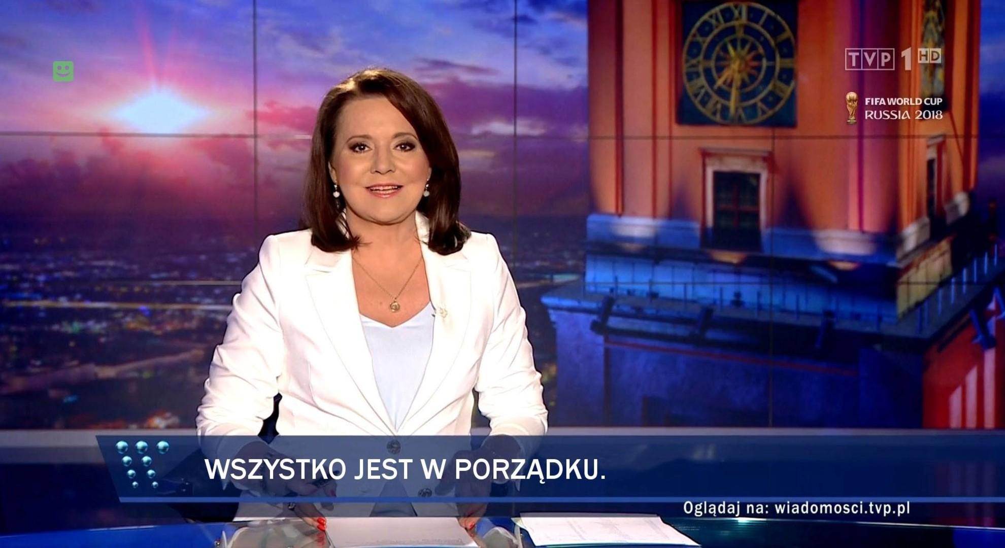 danuta holacka w wiadomościach TVP